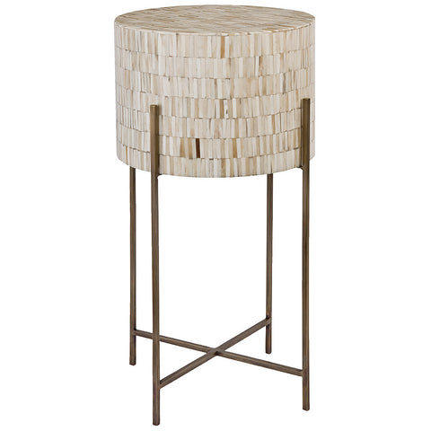 Modern Drum Table Antique Brass - Regina Andrew