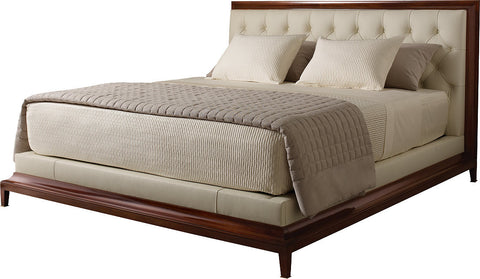 Moderne Platform Tufted Bed - Baker Furniture