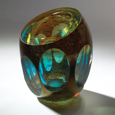 Molten Jewel Vase Aqua - Global Views