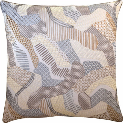 Moonmist Pillow Platinum/Bronze 22x22 - Ryan Studio