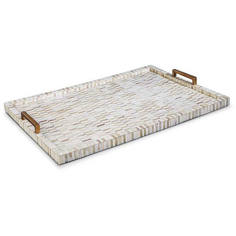 Multi Tone Bone and Brass Tray - Regina Andrew Design