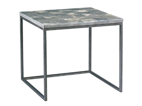 Nolan Side Table, Grey Stone - Modern Living by Lillian August