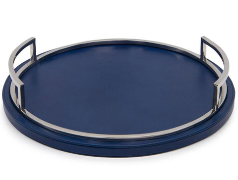 Deep Blue Round Tray - John-Richard