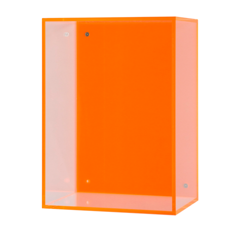 Neon Hanging Acrylic Box, Orange - Gold Leaf Design Group