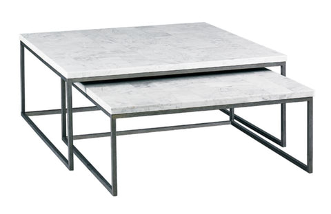 Nolan Cocktail Bunching Table, Small White Stone - Modern Living by Lillian August