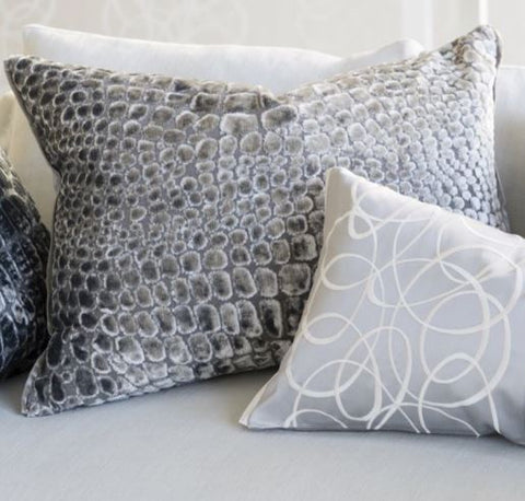 Nabucco Graphite Decorative Pillow - Designers Guild