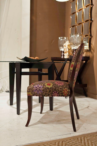 Bright Floral Charlotte Side Chair - DesignMaster Furniture