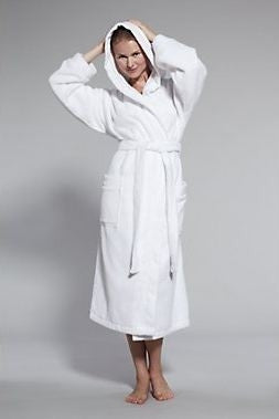 Contempo Bath Robe, White - Kassatex