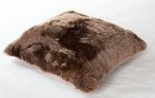 "Chocolate Sherling Pillow 20"" x 20"" - Auskin"