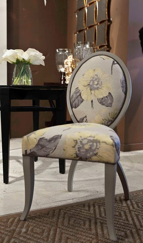 Gray and Yellow Charlotte Side Chair - DesignMaster Furniture