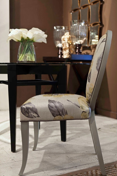 Gray And Yellow Charlotte Side Chair
