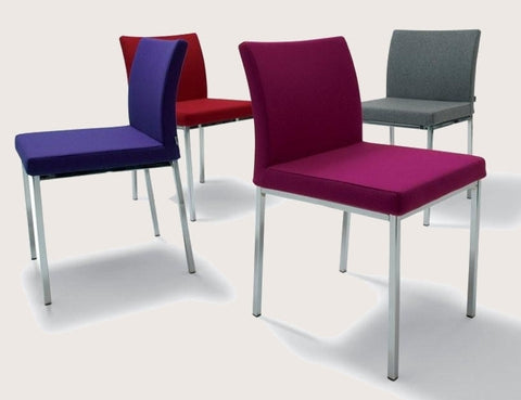 Aria Chrome Red Dining Chair - Soho Concept