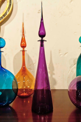 Straight Cone Petite Decanter, Violet- Joe Cariati