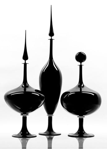Alto Black Venetian Decanter - Joe Cariati