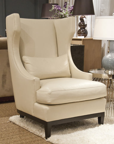 Pascal Leather Chair - Bernhardt Interiors
