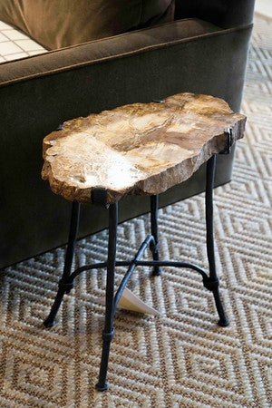 Petrified Wood Table - Bernhardt Interiors