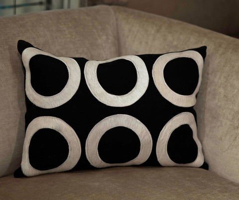 Chelsea Black/White 12x20 Pillow - V Rugs and Home