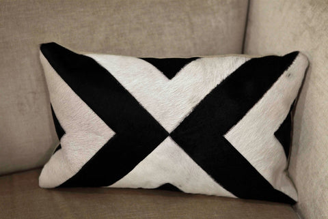 Modern Black/White 12x20 Pillow - V Rugs and Home