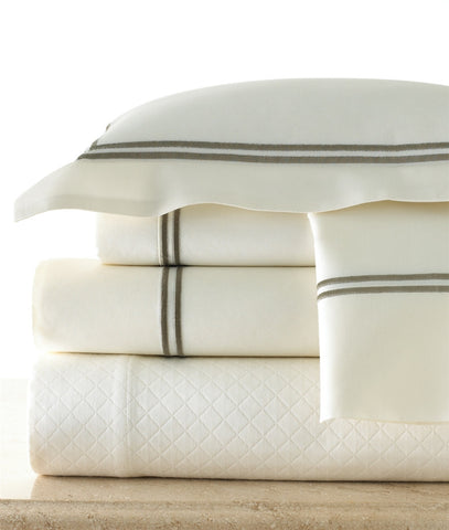 Ginerva Flanged Coverlet, Eggshell - Legacy Home
