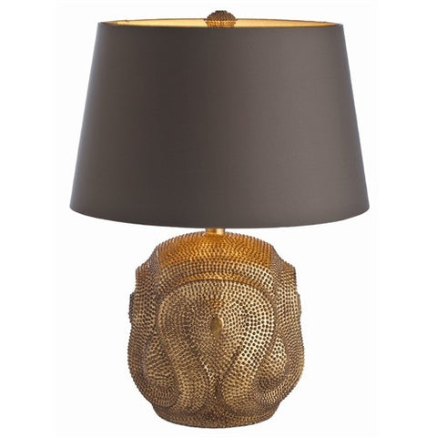 Baroque Antiqued Gold Leaf Lamp - Arteriors Home