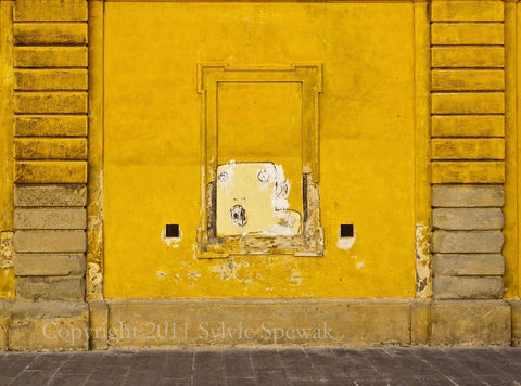 Yellow Wall and Window Aluminum- Florence, Italy - Sylvie Rose Spewak