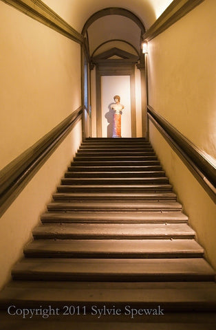 Long Stairwell with Statue Aluminum- Glasgow, UK - Sylvie Rose Spewak