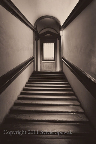 Long Stairwell Without Statue Framed - Glasgow, UK
