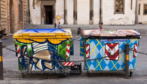 Dumpsters at Dawn Framed - Florence, Italy - Sylvie Rose Spewak