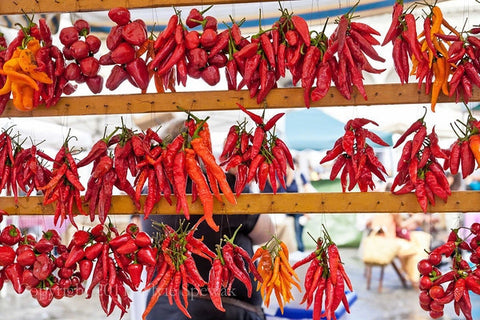 Hanging Peppers Framed - Florence, Italy