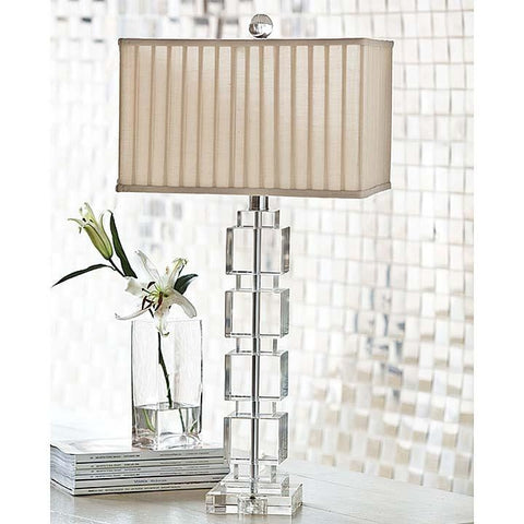 Stacked Crystal Cube Lamp - Regina-Andrew Design