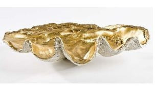 Large Clam Bowl with Antique Gold Interior  - Regina-Andrew Design