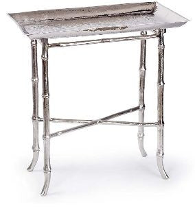 Nickel Bamboo Tray Table - Andrew Design