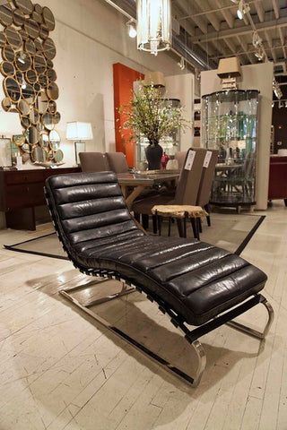 Vintage Black Chaise Lounge - Regina-Andrew Design