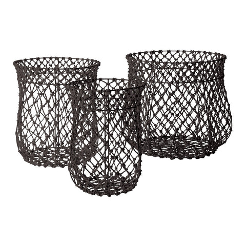 S/3 Nested Fisherman Rope Basket - Dimond Home