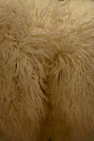 Tibetan Long Wool Ivory Throw - Auskin