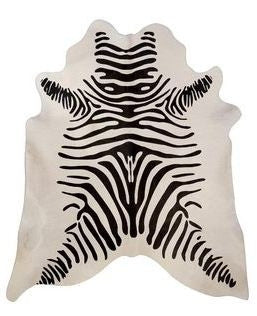 Zebra Stenciled Hide Rug - Saddleman's of Santa Fe