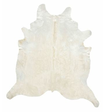 Ivory Solid XL Hide Rug - Saddleman's of Santa Fe