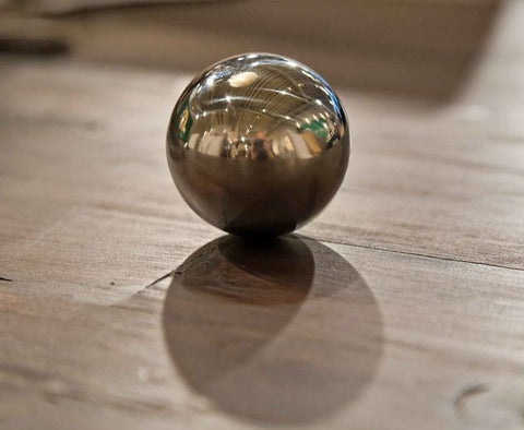 Stainless Steel Floating Sphere - Gold Leaf Design Group