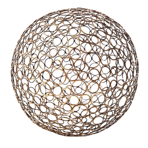 "Metal Circle Ball 4"" - Gold Leaf Design Group"