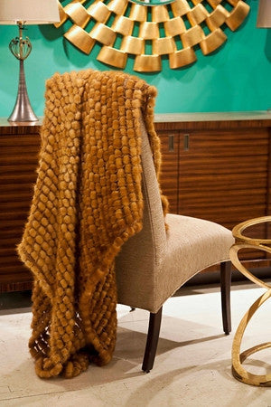 Mink Crochet Throw - Adrienne Landau