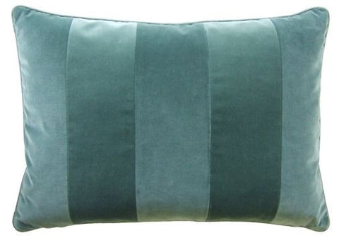 Giorgio Stripe Aquamarine Pillow 14x20 - Ryan Studio
