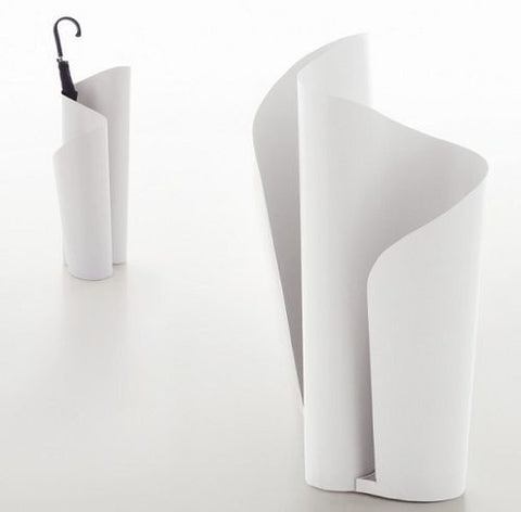 Matte White Narciso Umbrella Holder- Tonin Casa