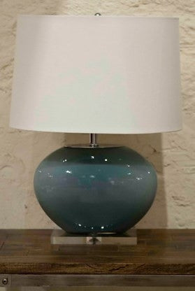 Grey Glass Oval Lamp - Dimond Home