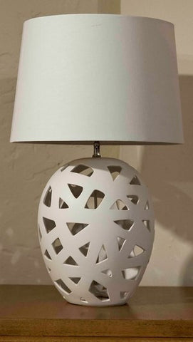 White Bisque Small Strap Table Lamp - Dimond Home