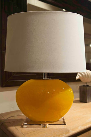 Orange Hand Blown Oval Naranja Lamp - Dimond Home