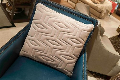 Maya Quilted Silver Pillow - V Rugs and Home