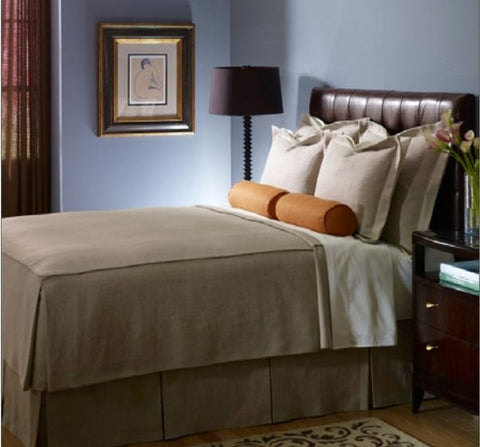 Satin Stitch Hayden Orange Euro Sham - Legacy Linens