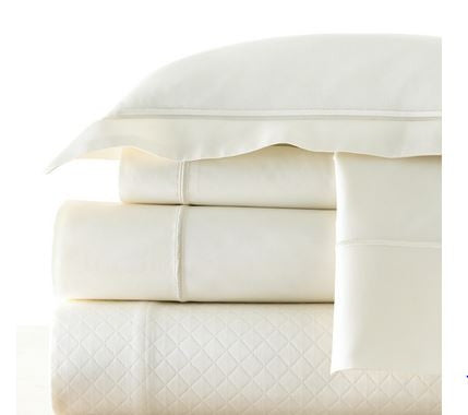 King Percale Ivory Pillowcase - Legacy Linens