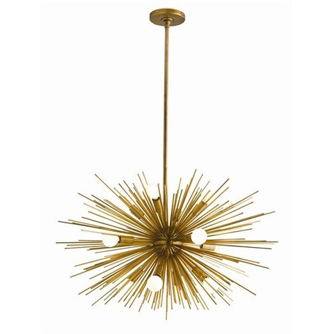 Zanadoo Small Brass Chandelier - Arteriors Home