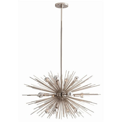 Zanadoo Small Nickel Chandelier - Arteriors Home